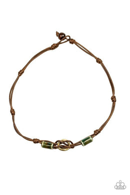 Men's Paparazzi Necklace ~ The Broncobuster - Green