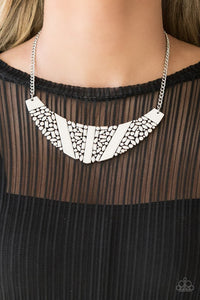 Paparazzi Necklace ~ Terra Trailbreaker - Silver