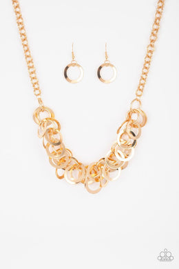 Paparazzi Necklace ~ Ringing In The Bling -Gold