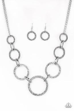 Paparazzi Necklace ~ City Circus - Silver