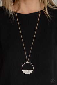 Paparazzi Necklace ~ Bet Your Bottom Dollar - Rose Gold