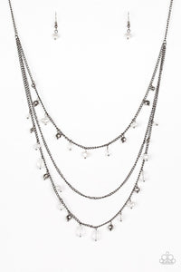 Paparazzi Necklace - Pebble Beach Beauty - Black