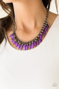Paparazzi Necklace - Jersey Shore - Purple
