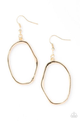 Paparazzi Earring ~ Eco Chic - Gold