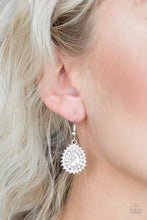 Load image into Gallery viewer, Paparazzi Earring ~ Star-Crossed Starlet - White