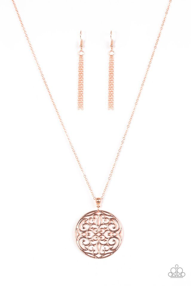 Paparazzi Necklace - All About Me-dallion - Copper
