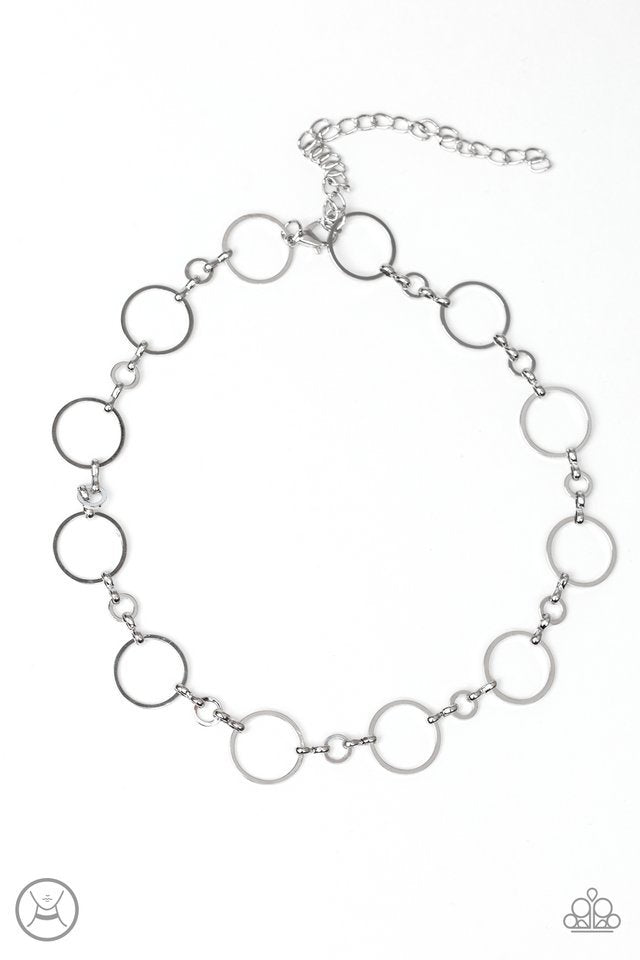 Paparazzi Necklace ~ Simply City Slicker - Silver