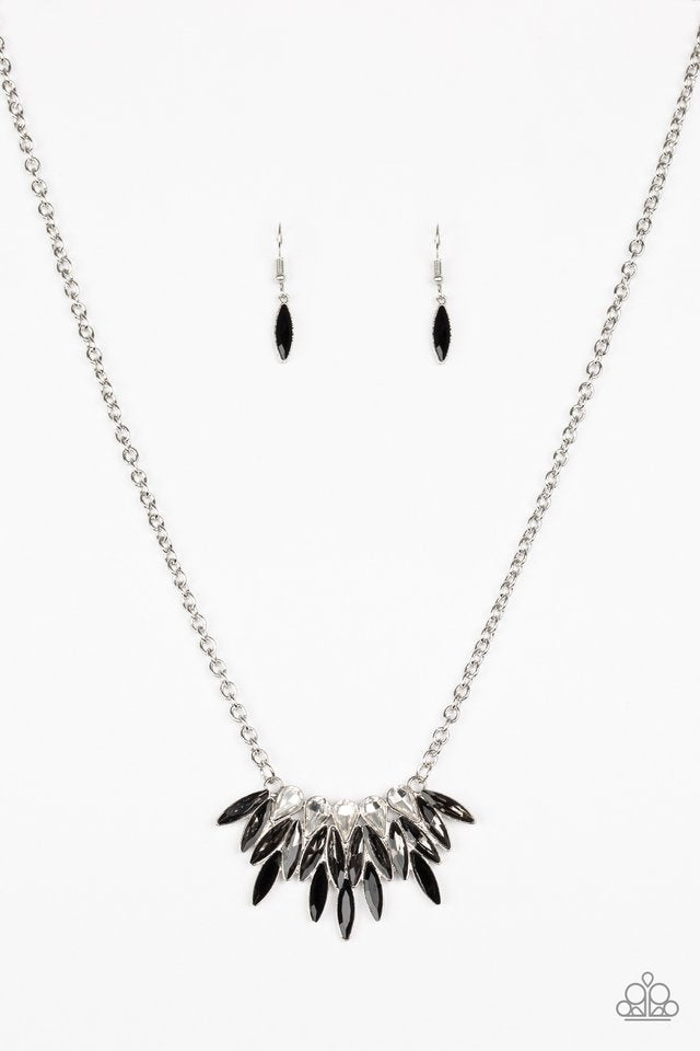 Paparazzi Necklace - Crown Couture - Black