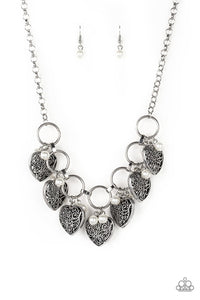 Paparazzi Necklace ~ Very Valentine - White