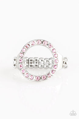 Paparazzi Ring ~ One-GLAM Band - Pink