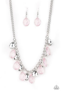 Paparazzi Necklace ~ No Tears Left To Cry - Pink