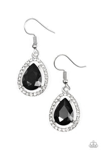 Paparazzi Earrings - A One - GLAM Show - Black