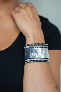 Paparazzi Bracelet ~ MERMAIDS Have More Fun - Blue