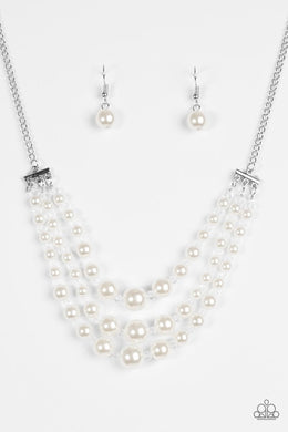 Paparazzi Necklace - Spring Social - White