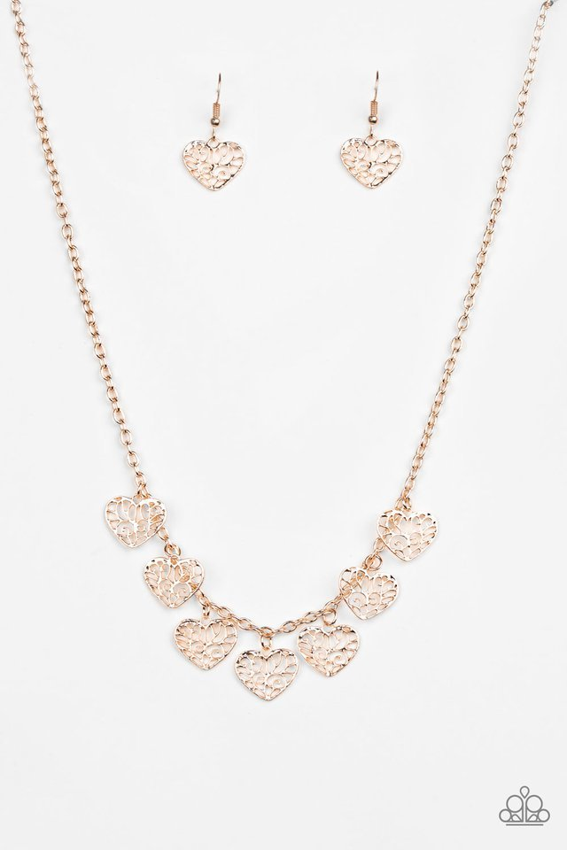 Paparazzi Necklace - Less Is AMOUR - Gold