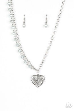 Paparazzi Necklace ~ Forever In My Heart - Silver