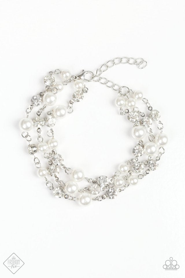 Paparazzi Bracelet - Every VOW and Then - White
