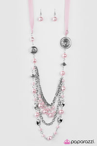 Paparazzi Blockbuster Necklace - All the Trimmings - Pink