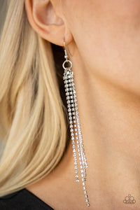 Paparazzi Earring ~ Center Stage Status - White