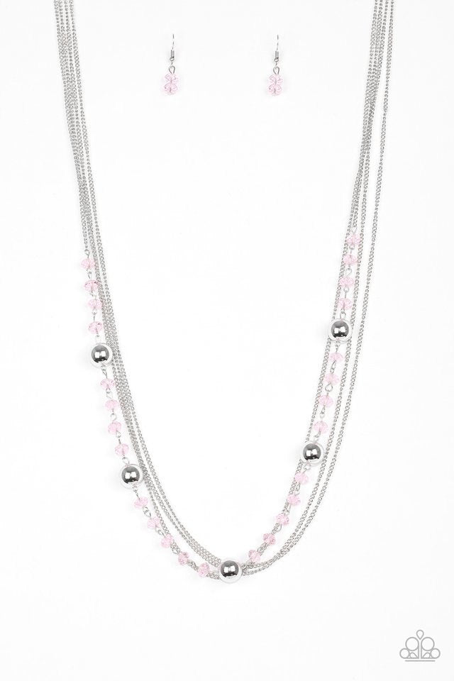 Paparazzi Necklace - High Standards - Pink