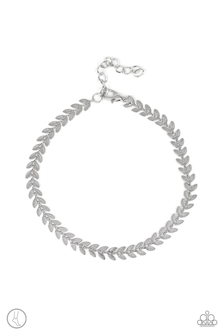 Paparazzi Anklet ~ West Coast Goddess - Silver
