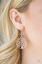 Load image into Gallery viewer, Paparazzi Earring ~ TREE Ring Circus - Rose Gold