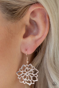 Paparazzi Earring ~ Darling Dahlia - Rose Gold