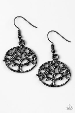 Paparazzi Earrings - Dream TREEHOUSE - Black