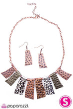 Load image into Gallery viewer, Paparazzi Blockbuster Necklace - A Fan of the Tribe - Copper