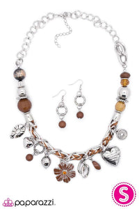 Paparazzi Blockbuster Necklace - Charmed, I'm Sure - Brown