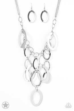 Paparazzi Blockbuster Necklace - A Silver Spell - Silver