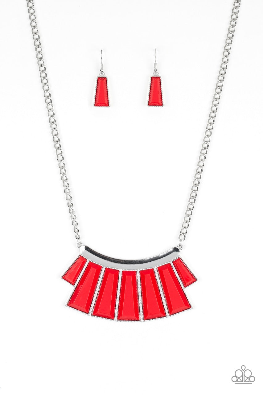 Paparazzi Necklace ~ Glamour Goddess - Red