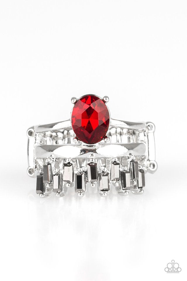 Paparazzi Ring ~ Crowned Victor - Red