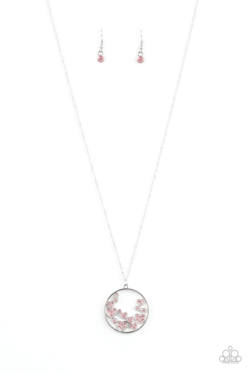 Paparazzi Necklace ~ Call Me Cupid - Pink
