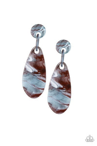 Paparazzi Earring ~ A HAUTE Commodity - Brown