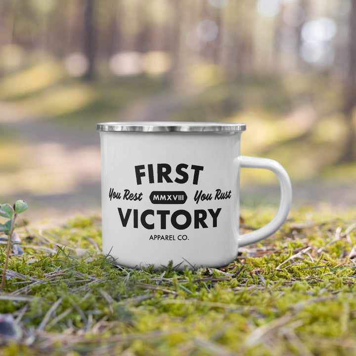 Never Rest Enamel Mug