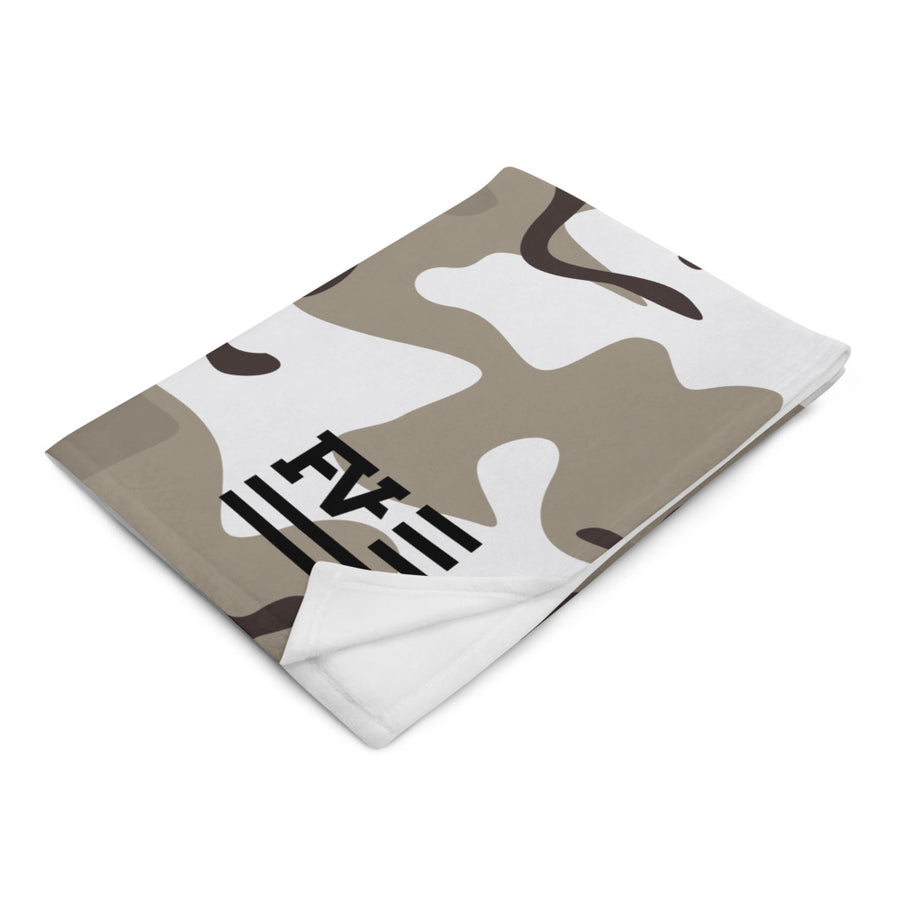 Light Camo Throw Blanket