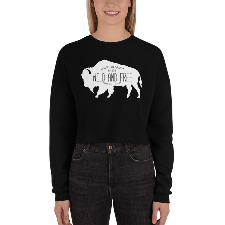 Buffalo Crop Sweatshirt