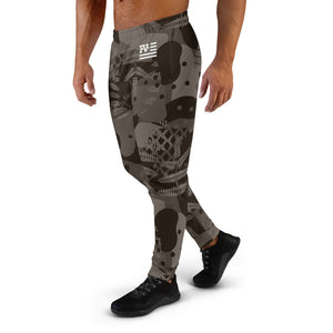 Brown Abstract Joggers