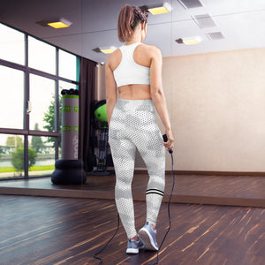 Abstract White Leggings