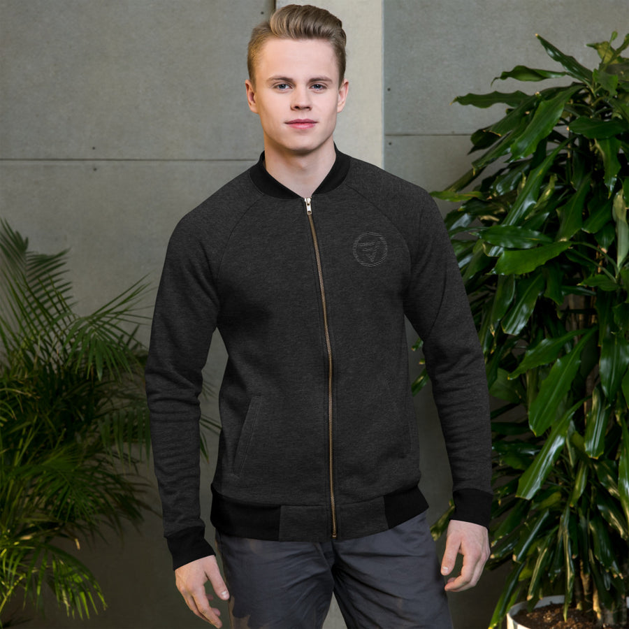 Blacked Out Bomber Jacket