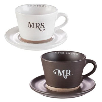 Mr. and Mrs. Mug 2 Piece Set