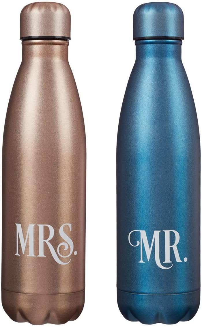 Mr. and Mrs. 2 Piece Set Water Bottle