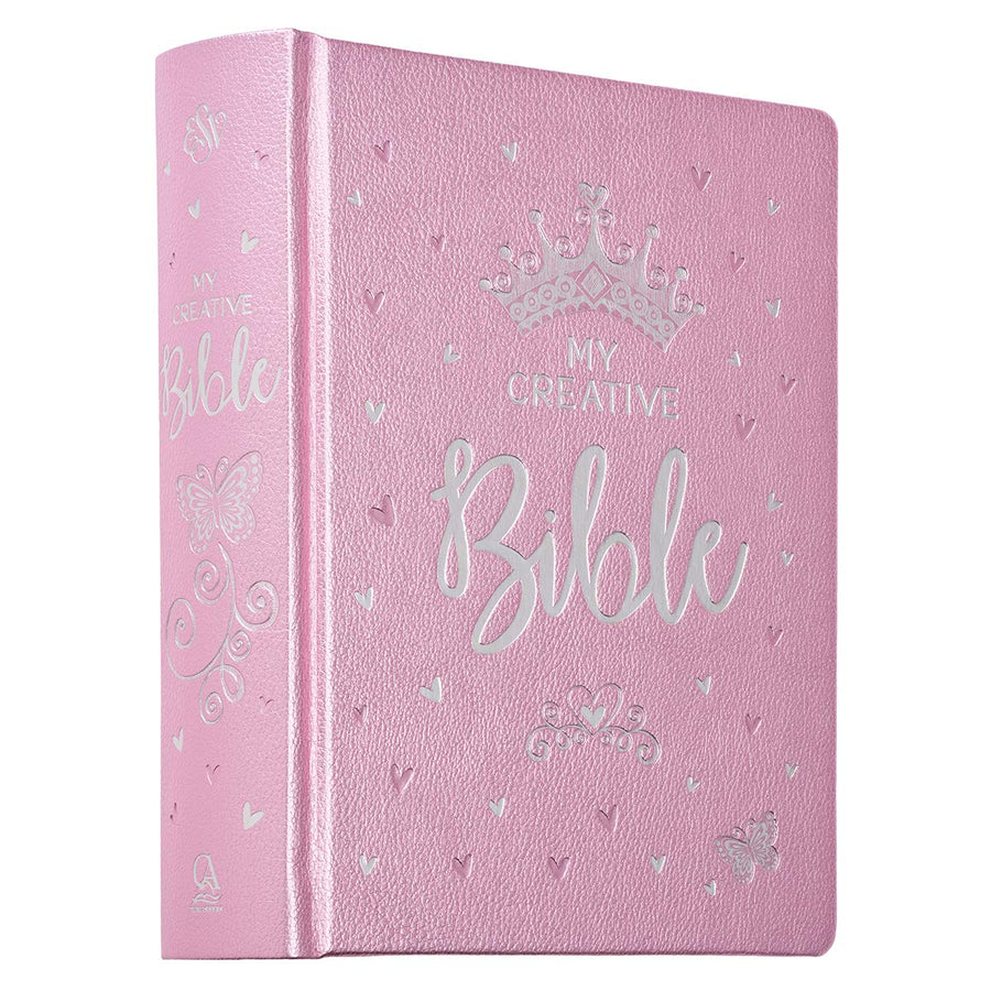 My Creative Bible For Girls ~ Hard Cover Pink Faux Leather