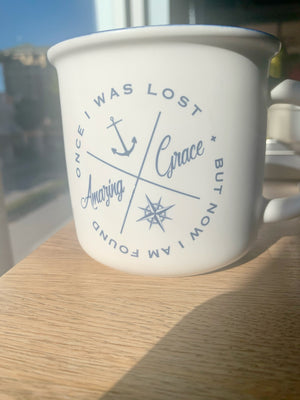 Once I Was Lost But Now I  Am Found Amazing Grace Mug