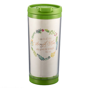 I Can Do All This Polymer Travel Tumbler - Philippians 4:13