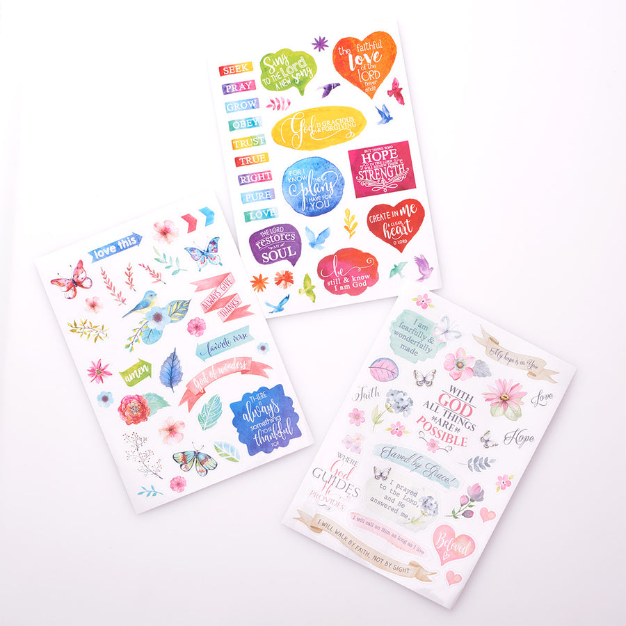 Stickers for Bible Journaling 3 Sheets