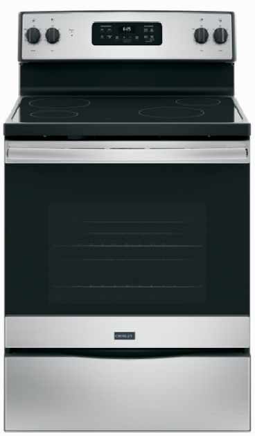 Crosley 5.3 Cu.Ft. 30'' Electric Stainless Steel Range XB625RKSS Self Clean - America Best Appliances, LLC