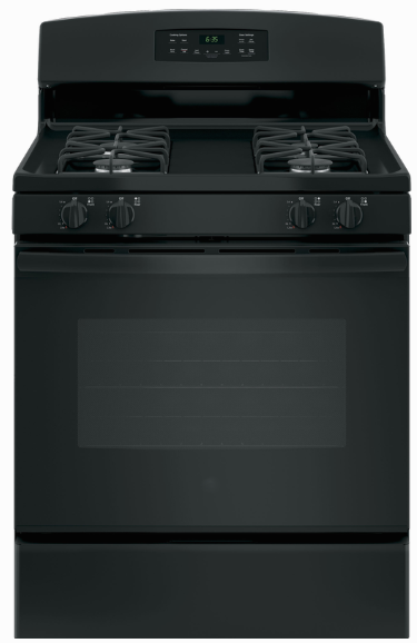 Crosley 5.0 Cu.Ft. 30'' Gas Black Range XGB635DEKBB Self Clean - America Best Appliances, LLC