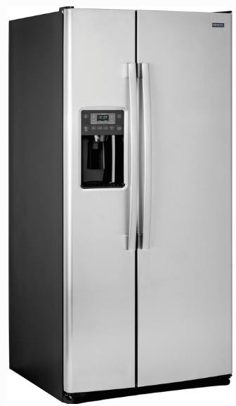 Crosley 23.2 Cu.Ft. Side-by-Side Stainless Steel Refrigerator XSS23GSKSS Ice & Water Thru-the-Door - America Best Appliances, LLC